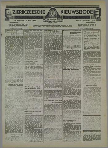 Zierikzeesche Nieuwsbode 1942-05-07