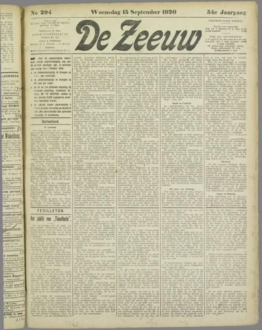 De Zeeuw. Christelijk-historisch nieuwsblad voor Zeeland 1920-09-15