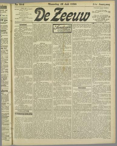 De Zeeuw. Christelijk-historisch nieuwsblad voor Zeeland 1920-07-19