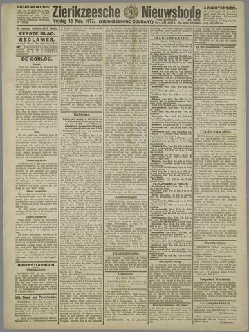 Zierikzeesche Nieuwsbode 1917-11-16