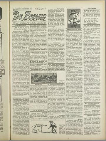 De Zeeuw. Christelijk-historisch nieuwsblad voor Zeeland 1943-11-20