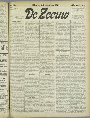 De Zeeuw. Christelijk-historisch nieuwsblad voor Zeeland 1921-08-23