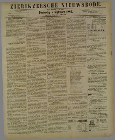 Zierikzeesche Nieuwsbode 1889-09-05