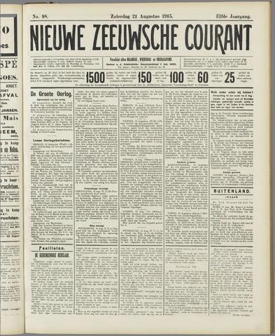 Nieuwe Zeeuwsche Courant 1915-08-21