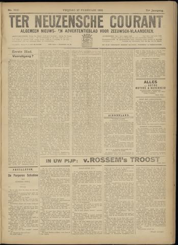 Ter Neuzensche Courant. Algemeen Nieuws- en Advertentieblad voor Zeeuwsch-Vlaanderen / Neuzensche Courant ... (idem) / (Algemeen) nieuws en advertentieblad voor Zeeuwsch-Vlaanderen 1931-02-27