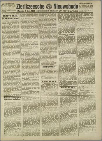 Zierikzeesche Nieuwsbode 1922-09-04