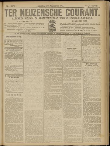 Ter Neuzensche Courant. Algemeen Nieuws- en Advertentieblad voor Zeeuwsch-Vlaanderen / Neuzensche Courant ... (idem) / (Algemeen) nieuws en advertentieblad voor Zeeuwsch-Vlaanderen 1917-08-28