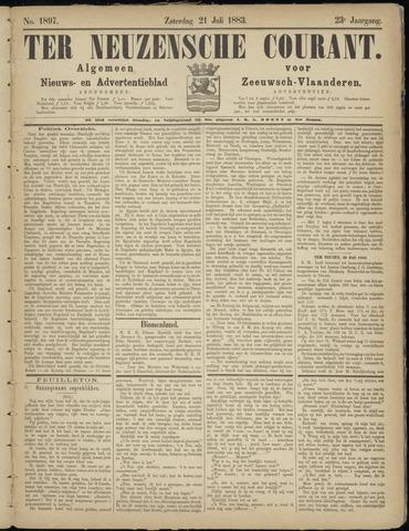 Ter Neuzensche Courant. Algemeen Nieuws- en Advertentieblad voor Zeeuwsch-Vlaanderen / Neuzensche Courant ... (idem) / (Algemeen) nieuws en advertentieblad voor Zeeuwsch-Vlaanderen 1883-07-21