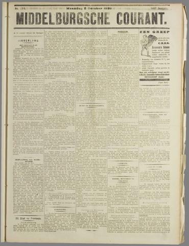 Middelburgsche Courant 1925-10-05