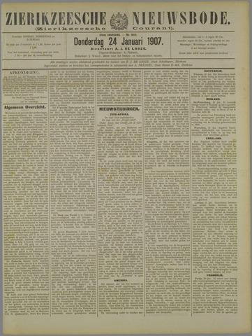 Zierikzeesche Nieuwsbode 1907-01-24
