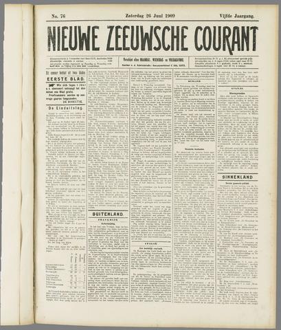 Nieuwe Zeeuwsche Courant 1909-06-26