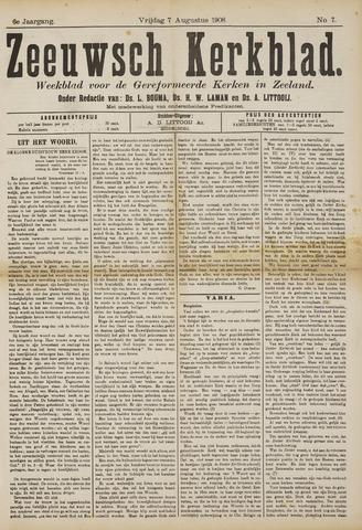 Zeeuwsche kerkbode, weekblad gewijd aan de belangen der gereformeerde kerken/ Zeeuwsch kerkblad 1908-08-07