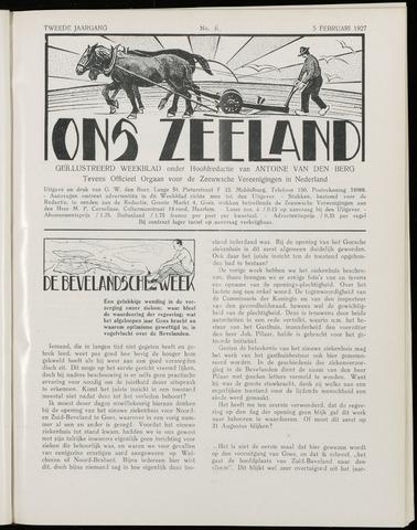 Ons Zeeland / Zeeuwsche editie 1927-02-05
