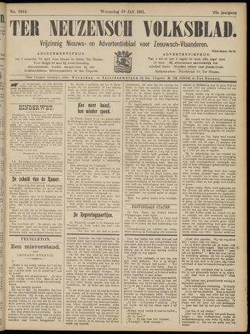 Ter Neuzensch Volksblad. Vrijzinnig nieuws- en advertentieblad voor Zeeuwsch- Vlaanderen / Zeeuwsch Nieuwsblad. Nieuws- en advertentieblad voor Zeeland 1911-07-19