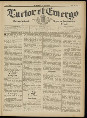 Luctor et Emergo. Antirevolutionair nieuws- en advertentieblad voor Zeeland / Zeeuwsch-Vlaanderen. Orgaan ter verspreiding van de christelijke beginselen in Zeeuwsch-Vlaanderen 1915-07-14