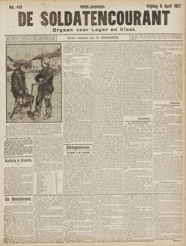 De Soldatencourant. Orgaan voor Leger en Vloot 1917-04-06