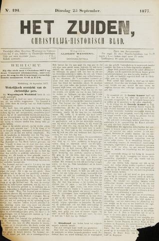 Het Zuiden, Christelijk-historisch blad 1877-09-25