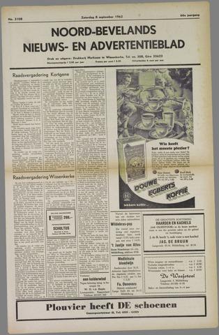 Noord-Bevelands Nieuws- en advertentieblad 1962-09-08