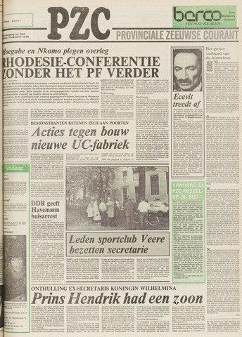 Provinciale Zeeuwse Courant 1979-10-16