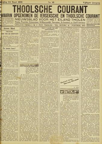 Ierseksche en Thoolsche Courant 1933-03-24