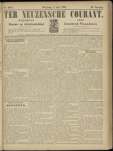 Ter Neuzensche Courant. Algemeen Nieuws- en Advertentieblad voor Zeeuwsch-Vlaanderen / Neuzensche Courant ... (idem) / (Algemeen) nieuws en advertentieblad voor Zeeuwsch-Vlaanderen 1894-04-04