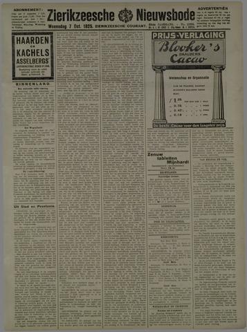 Zierikzeesche Nieuwsbode 1925-10-07