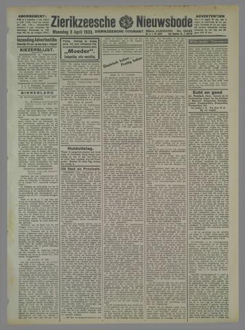 Zierikzeesche Nieuwsbode 1933-04-03