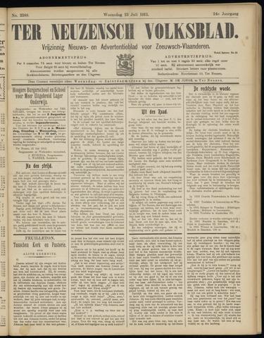 Ter Neuzensch Volksblad. Vrijzinnig nieuws- en advertentieblad voor Zeeuwsch- Vlaanderen / Zeeuwsch Nieuwsblad. Nieuws- en advertentieblad voor Zeeland 1913-07-23