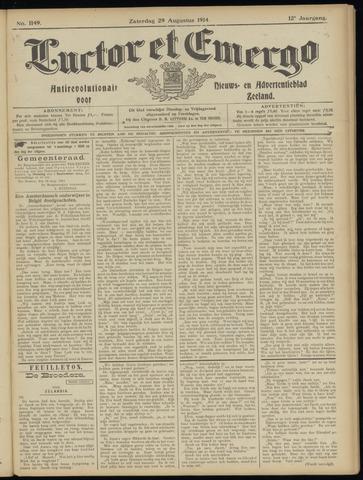 Luctor et Emergo. Antirevolutionair nieuws- en advertentieblad voor Zeeland / Zeeuwsch-Vlaanderen. Orgaan ter verspreiding van de christelijke beginselen in Zeeuwsch-Vlaanderen 1914-08-29