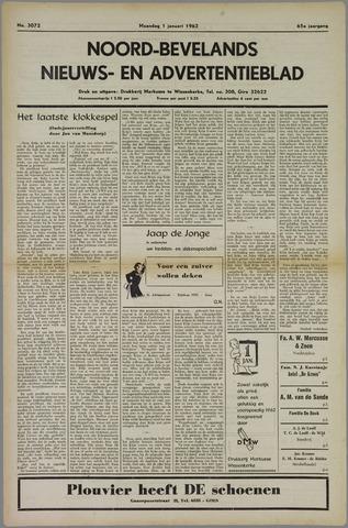 Noord-Bevelands Nieuws- en advertentieblad 1962