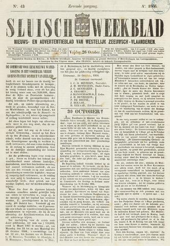 Sluisch Weekblad. Nieuws- en advertentieblad voor Westelijk Zeeuwsch-Vlaanderen 1866-10-26