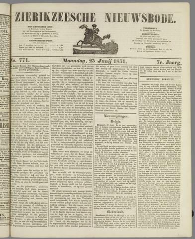 Zierikzeesche Nieuwsbode 1851-06-23