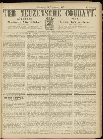 Ter Neuzensche Courant. Algemeen Nieuws- en Advertentieblad voor Zeeuwsch-Vlaanderen / Neuzensche Courant ... (idem) / (Algemeen) nieuws en advertentieblad voor Zeeuwsch-Vlaanderen 1895-11-21