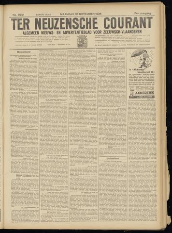 Ter Neuzensche Courant. Algemeen Nieuws- en Advertentieblad voor Zeeuwsch-Vlaanderen / Neuzensche Courant ... (idem) / (Algemeen) nieuws en advertentieblad voor Zeeuwsch-Vlaanderen 1934-11-12