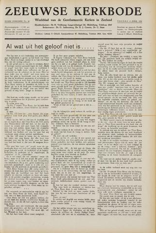 Zeeuwsche kerkbode, weekblad gewijd aan de belangen der gereformeerde kerken/ Zeeuwsch kerkblad 1951-04-06
