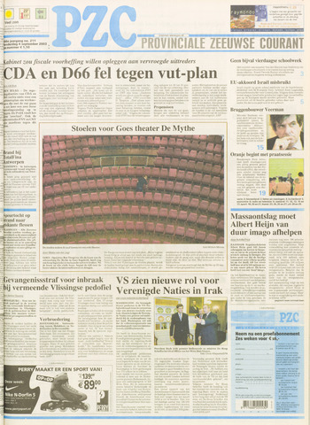 Provinciale Zeeuwse Courant 2003-09-04