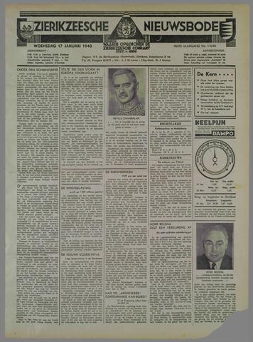 Zierikzeesche Nieuwsbode 1940-01-17
