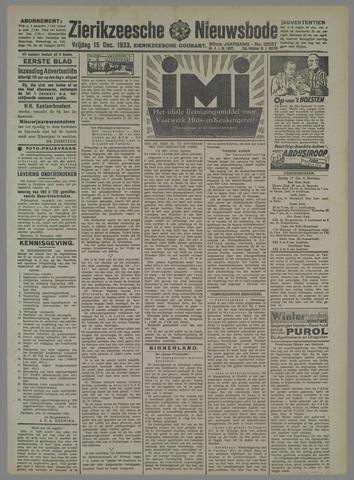 Zierikzeesche Nieuwsbode 1933-12-15