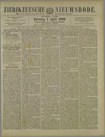 Zierikzeesche Nieuwsbode 1906-04-07