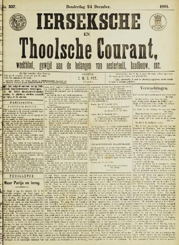 Ierseksche en Thoolsche Courant 1891-12-24