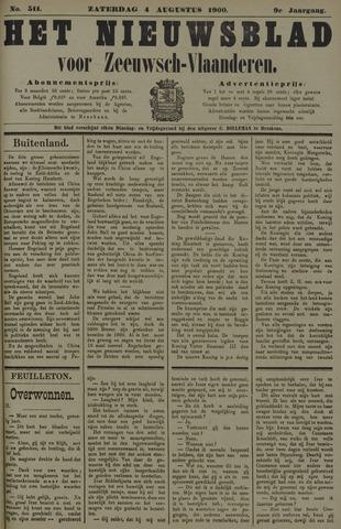 Nieuwsblad voor Zeeuwsch-Vlaanderen 1900-08-04