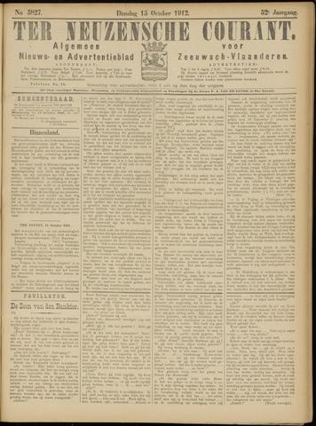 Ter Neuzensche Courant. Algemeen Nieuws- en Advertentieblad voor Zeeuwsch-Vlaanderen / Neuzensche Courant ... (idem) / (Algemeen) nieuws en advertentieblad voor Zeeuwsch-Vlaanderen 1912-10-15
