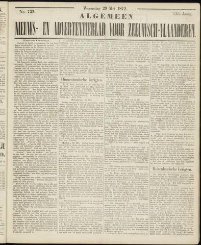Ter Neuzensche Courant. Algemeen Nieuws- en Advertentieblad voor Zeeuwsch-Vlaanderen / Neuzensche Courant ... (idem) / (Algemeen) nieuws en advertentieblad voor Zeeuwsch-Vlaanderen 1872-05-29
