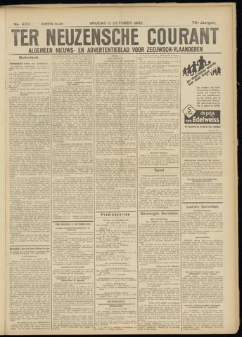 Ter Neuzensche Courant. Algemeen Nieuws- en Advertentieblad voor Zeeuwsch-Vlaanderen / Neuzensche Courant ... (idem) / (Algemeen) nieuws en advertentieblad voor Zeeuwsch-Vlaanderen 1935-10-11