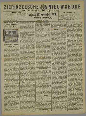Zierikzeesche Nieuwsbode 1913-11-28