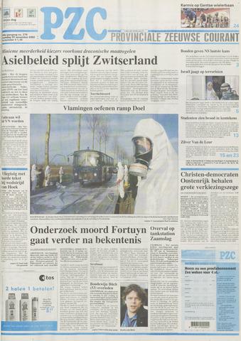 Provinciale Zeeuwse Courant 2002-11-25