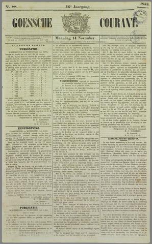 Goessche Courant 1859-11-14