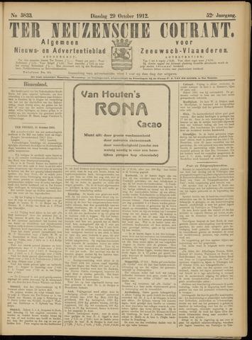 Ter Neuzensche Courant. Algemeen Nieuws- en Advertentieblad voor Zeeuwsch-Vlaanderen / Neuzensche Courant ... (idem) / (Algemeen) nieuws en advertentieblad voor Zeeuwsch-Vlaanderen 1912-10-29
