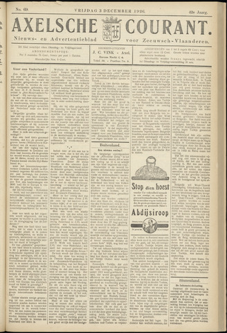 Axelsche Courant 1926-12-03