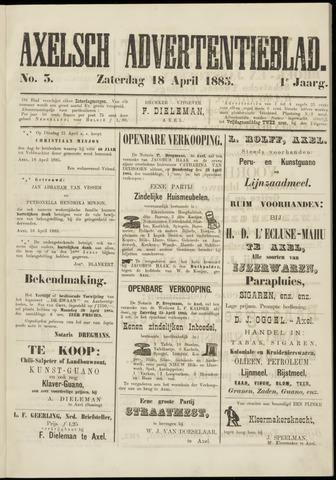 Axelsche Courant 1885-04-18